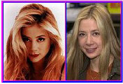 Mira Sorvino with and without makeup