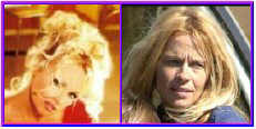 Pam Anderson with and without makeup